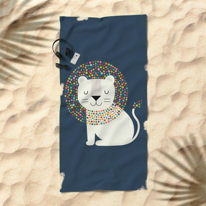 As A Lion Beach Towel