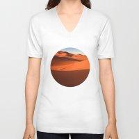 desert V-neck T-shirts featuring Desert by GF Fine Art Photography
