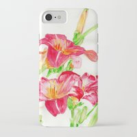 hot pink iPhone & iPod Cases featuring Hot Pink by Kate Havekost Fine Art