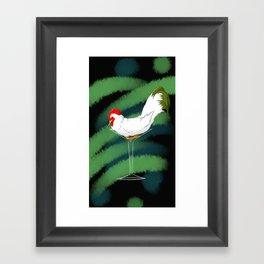 CockTail with Olive Framed Art Print