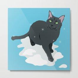 Winter Cat Metal Print