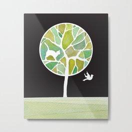 green tree Metal Print