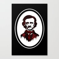 poe Canvas Prints featuring Poe by Brit Austin Illustration