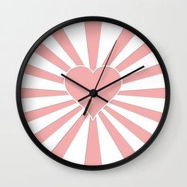Blush Pink Valentine Sweetheart Love Explosion Wall Clock