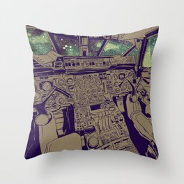 SpaceJet (Color) Throw Pillow