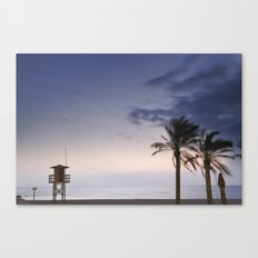 Summer sunset at the beach Canvas Print