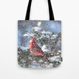 Let It Snow (Northern Cardinal) Tote Bag