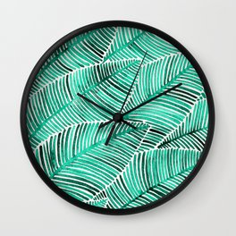Tropical Turquoise Wall Clock