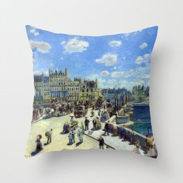 Auguste Renoir Pont Neuf, Paris Throw Pillow