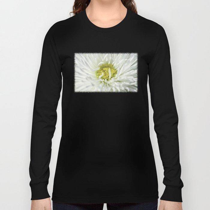 White English Daisy Flower Long Sleeve T-shirt