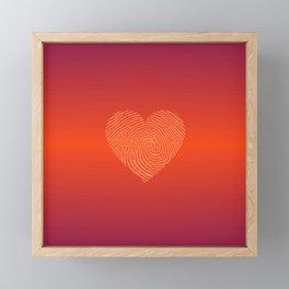 HOT RED Ombre color HEART  Framed Mini Art Print