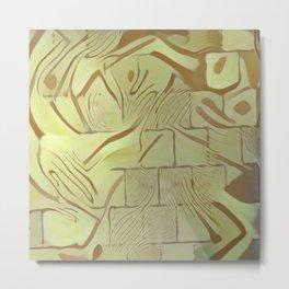 Walled Wild Pattern Metal Print