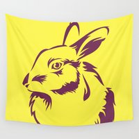 rabbit Wall Tapestries featuring Rabbit by LaDa