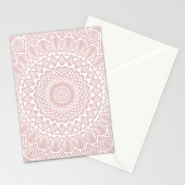 Light Rose Gold Mandala Minimal Minimalistic Stationery Cards