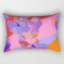 struggling with pink Rectangular Pillow