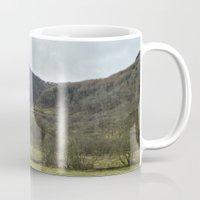 scotland Mugs featuring Scotland Countryside by Ashley Callan