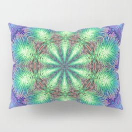Blue Vintage Flower Background Pattern Pillow Sham