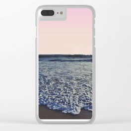 When The Waves Kiss The Shore Clear iPhone Case