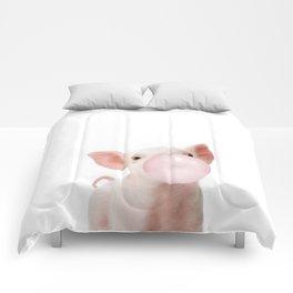 Bubble Gum Baby Pig Comforters