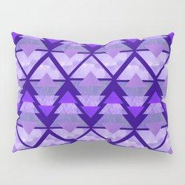 Geometric Forest on Purple Pillow Sham