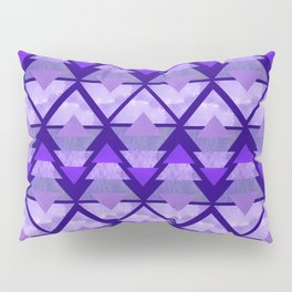Geometric Forest on Purple Pillow Sham