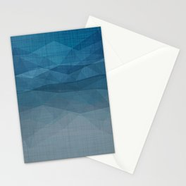 Imperial Blue Triangles Stationery Cards