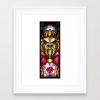 mandie manzano Framed Art Prints featuring The Beast by Mandie Manzano