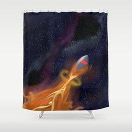 rocket fire Shower Curtain