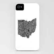 Typographic Ohio Slim Case iPhone (4, 4s)