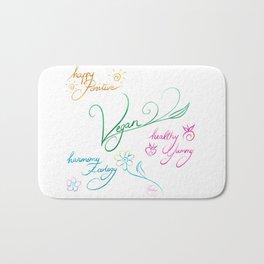 Vegan & happy lifestyle Bath Mat