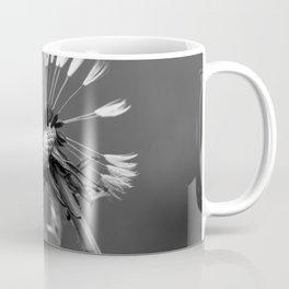 Almost naked black and white dandelion Coffee Mug