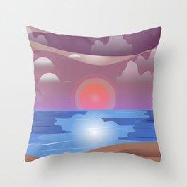 Seasunset Throw Pillow