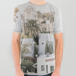 Hollywood California All Over Graphic Tee