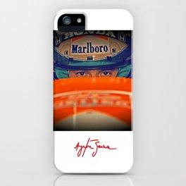 Ayrton Senna Tribute Design III iPhone Case