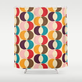 Mid Century Modern Circles Shower Curtain