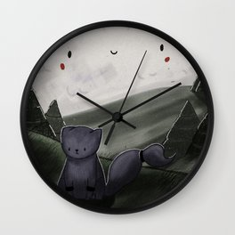What's holding you back little kitty Wall Clock