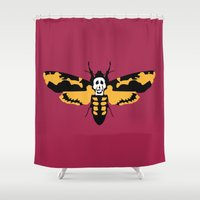 silence of the lambs Shower Curtains featuring The Silence of the Lambs by FilmsQuiz
