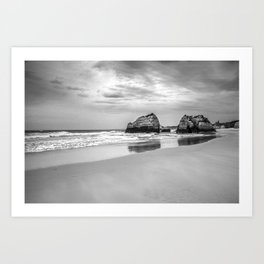 Stone beach Praia da Rocha Art Print