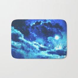 Blue on Moon Bath Mat