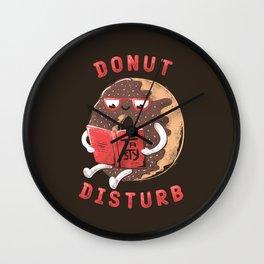 Donut Disturb Wall Clock