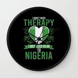 No Therapy just Nigeria Wall Clock