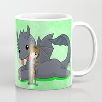 how to train your dragon Mugs featuring How to Train Your Dragon 2 by Mayying