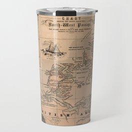 Map of the Northwest Passage 1856 Travel Mug