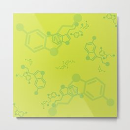serotonin leaves Metal Print