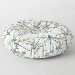 watercolor dragonflies Floor Pillow
