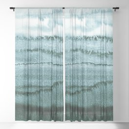WITHIN THE TIDES SUMMER MINT by Monika Strigel Sheer Curtain