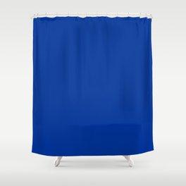 Smalt (Dark powder blue) - solid color Shower Curtain