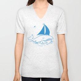 Whaleboat Unisex V-Neck
