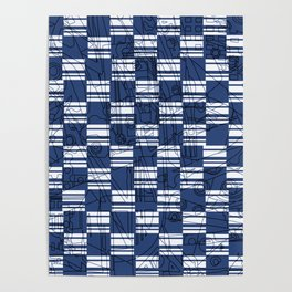 Glory Navy with Squares Poster