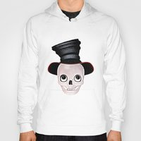 mad hatter Hoodies featuring Mad Skull Hatter by Texnotropio